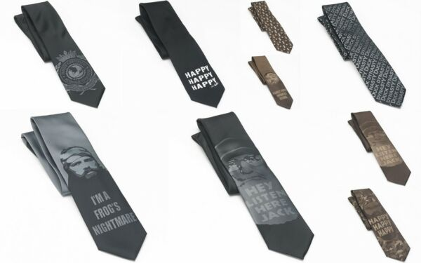 Wholesale Lot 38 Duck Dynasty Men's Neck Ties Si Jase Phil Willie Black Taupe