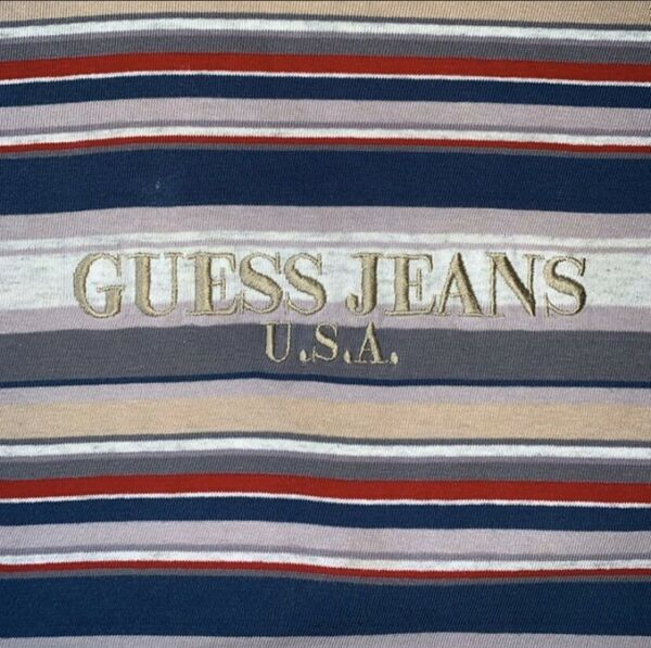 90s Vintage Guess Jeans Stripe Long Sleeve Sean Wotherspoon Top 5 Pieces Gallery $250.00