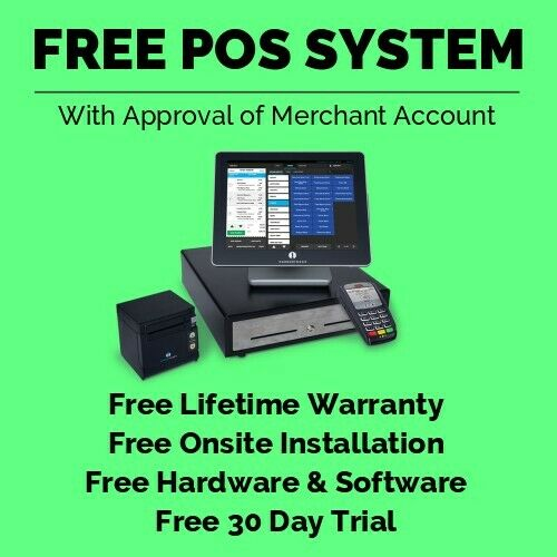 *FREE* POS System for Restaurant & Retail with Touchscreen Register & Printer!!