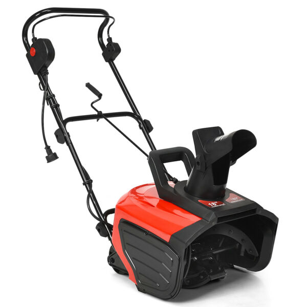 18-Inch 15 Amp Electric Snow Thrower Driveway Clean 720LbsMinute Snow Blower