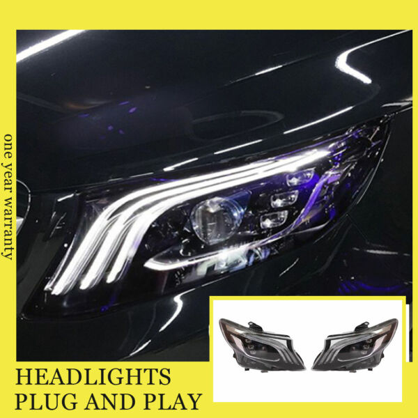 For Benz Metris LED Head Lamps All LED Source With DRL Dynamic Turn 2016-2020