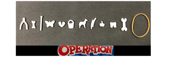 Operation Game Replacement Pieces amp; Parts Complete Set of 12 Funny Ailments