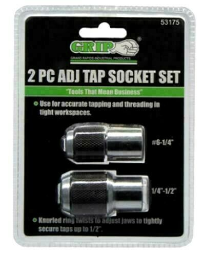 Adjustable Tap Holder Socket 2 Piece Set