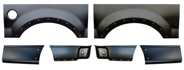 Wheel Arch & Front & Rear Lower Bed Kit 6.5' Bed for 04-08 F150 Pickup Truck