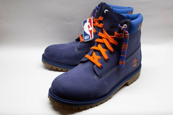 Timberland New York Knicks Edition Size 7 Mens Blue Suede Boots $139.95