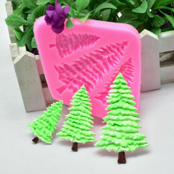 3D Christmas Tree Silicone Mold Fondant Cake Chocolate Baking Mould Decor Acces
