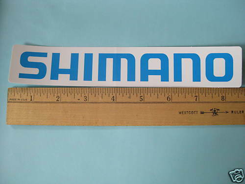 ONE 8.5quot; Blue on White SHIMANO Road RACE MTB BIKE BICYCLE FRAME STICKER DECAL $3.99