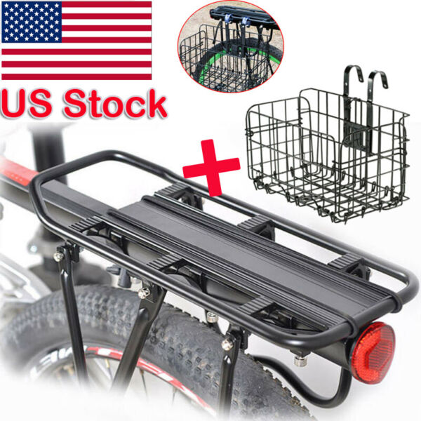 Bicycle Mountain Bike Rear Rack Seat Post Mount Pannier Luggage With Basket US $30.88