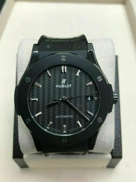 Hublot Black Ceramic Classic Fusion Black Magic Automatic 511.CM.1771.RX Receipt $6,395.00