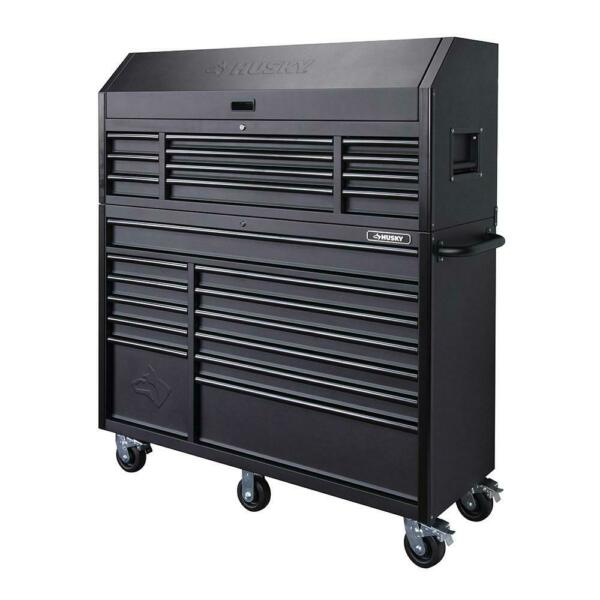 Husky Heavy-Duty 56 in. W 23-Drawer Deep Combination Tool Chest and Cabinet