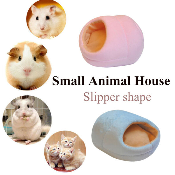 Rabbit Fleece Small Animal House Warm Pad Guinea Pig Mat Hamster Sleeping Bed