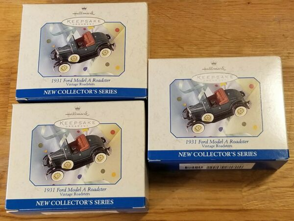 3 HALLMARK TRUCK ORNAMENTS -  MORE ORNAMENTS in our STORE (OR7)