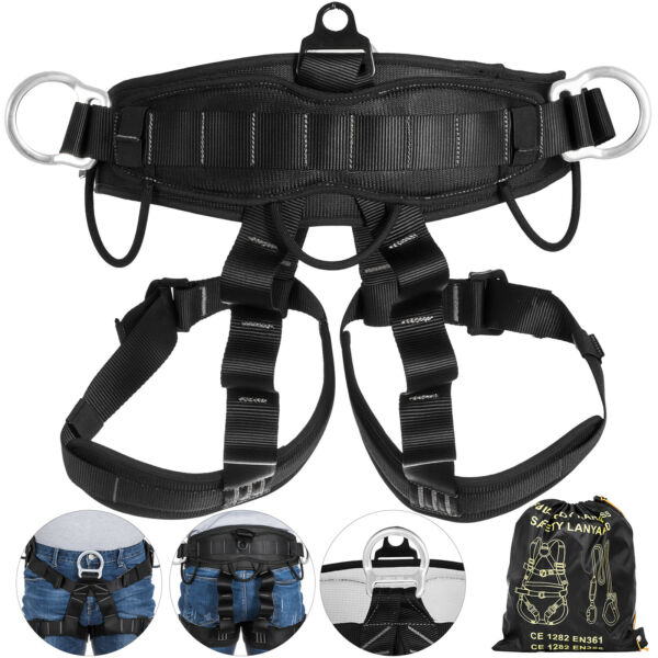 Outdoor Body Safety Harness Rock Climbing Tree Rappelling Harness Seat Belt