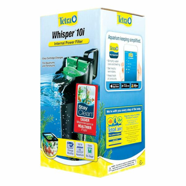 Whisper In Tank Filter with BioScrubber for Up to 10 Gallon aquariums terrariums