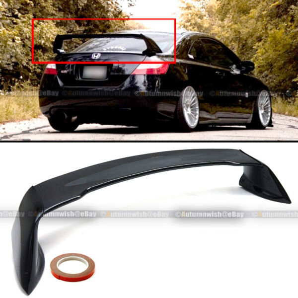 Fits 06-11 Honda Civic 2DR Coupe Glossy Black Mugen Style RR Trunk Wing Spoiler
