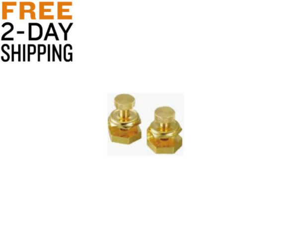 Contractor quality Stair Gauge Brass Plated clamps Include knurled screws 2-Pack