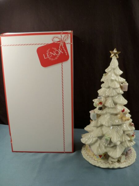 Lenox Fireplace Collection Porcelain Christmas Tree Figurine - MIB