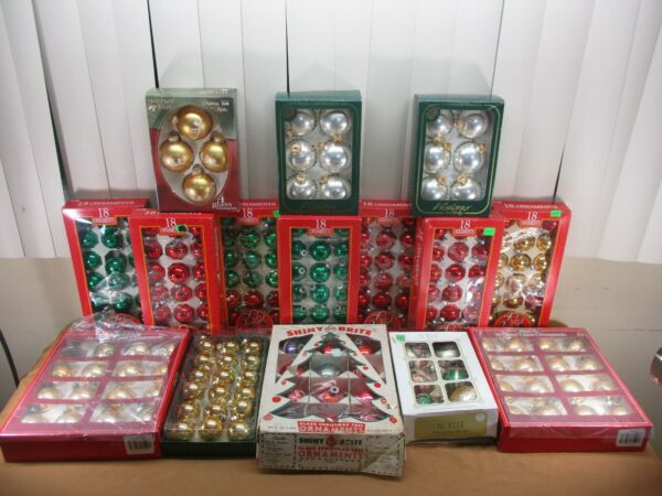 HUGE Lot of Over 200++ Vintage Christmas Tree Ornaments Glass Shiny Brite +More!
