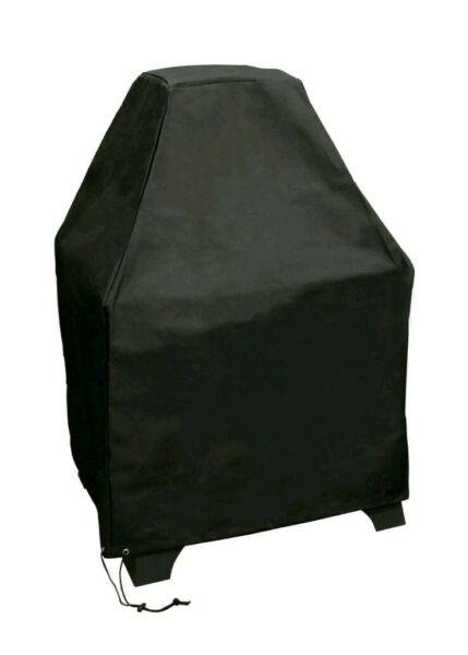 Landmann Redford Outdoor Fireplace Cover Black Polyester With Pvc Lining New