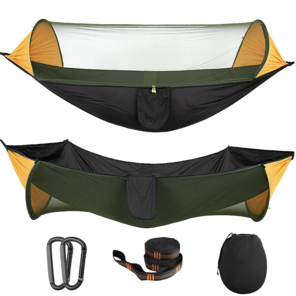 MoKo Portable Tent Camping Hammock Mosquito Net Rain Cover Outdoor Windproof Bed $39.99