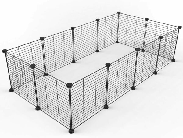 Tespo Pet Playpen Small Animal Cage Indoor Portable Metal Wire Fence 15X12 PP01
