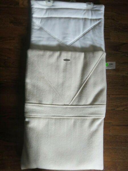 NWT POINTELLE Magnificent Baby Stroller Bunting Sack Off White Wool Retail $198