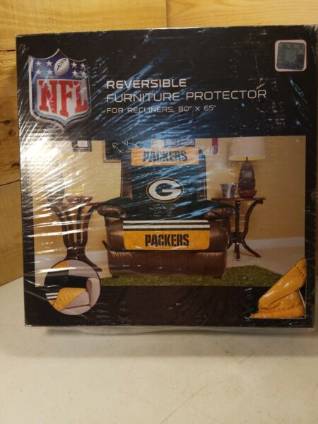 NFL Packers Reverisible Furniture Protector For Recliner 80quot;×65quot; $29.99