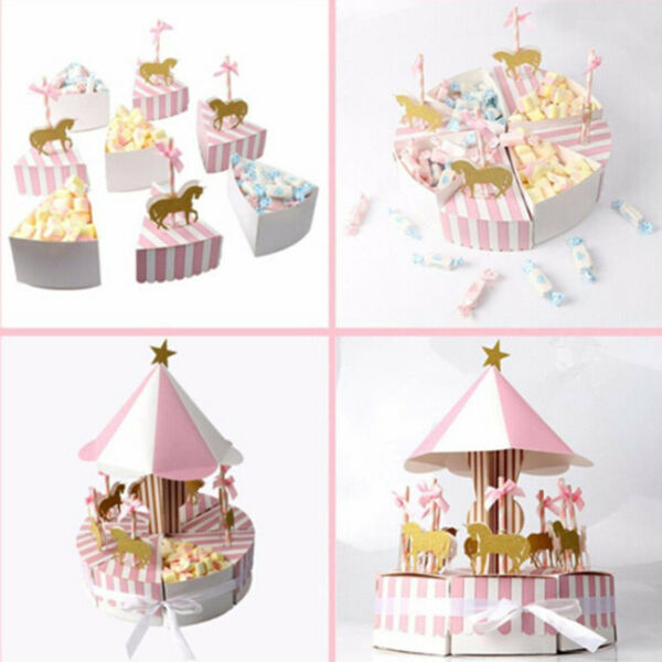 Home Decoration Packing Box Small Box Striped Triangle Paper Cute Candy Box KV