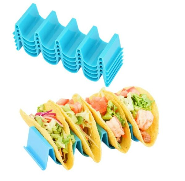 4 Pcs Taco Holder Mexican Food Wave Shape Hard Rack Stand Kitchen Cooking Tool $7.99