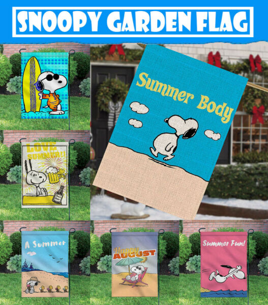 Outdoor Yard Decor Summer Body Snoopy 12X18 Inch Banner Double Sided Garden Flag