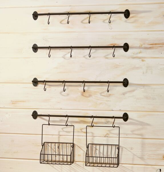 Wall Rack for Coffee Mugs Tea Cups with Industrial Pipe Style 6 Pieces $20.57
