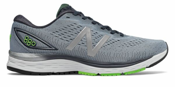 New Balance Men's 880v9 Shoes Grey with Blue & Green