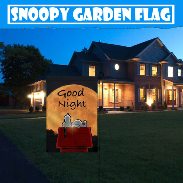 Outdoor Yard Sweet Dream Snoopy 12X18 Inch BannerSign Double-sided Garden Flags
