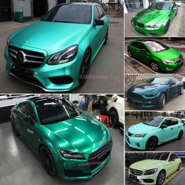 Green - Chameleon Satin 3D Mirror Chrome Pearl Metal Car Vinyl Wrap Sticker US