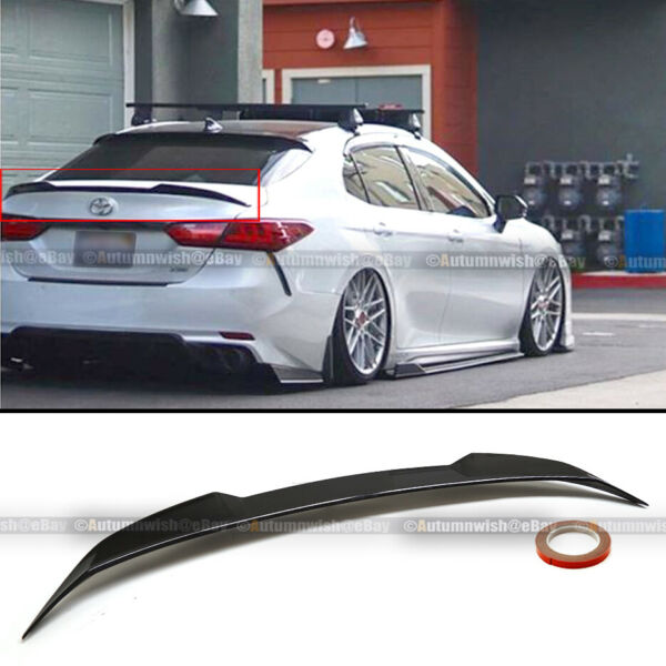 For 18 19 20 Toyota Camry Glossy Black JDM M4 Style Rear Trunk Lip Wing Spoiler $59.99