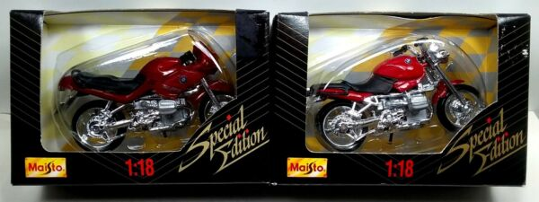 1996 Maisto 1:18 BMW Motorcycle Set of Two – R1100RS amp; Similar Roadster $16.00