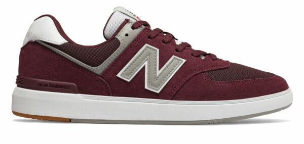 New Balance Men's All Coasts 574 Shoes Red with White