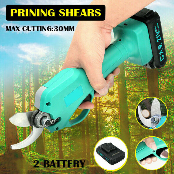 Electric Pruning Shears Kit Cordless Garden Tree Nursery Grafting Tool Trimmer