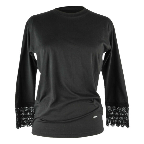Dsquared2 Top 3 4 Sleeve Black Lacey Cuffs XS $256.00
