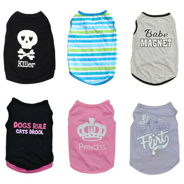 Boy Dog Clothing Puppy Vest Girl Pet Clothes for chihuahua yorkie Shih Tzu Cat $3.99