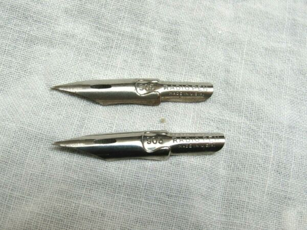 Vintage Esterbrook Pen Nibs Radio Pen 905 Lot of 2 New Old Stock