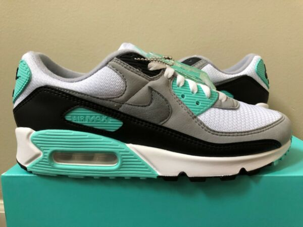 Nike Air Max 90 White Grey Hyper Turquoise CD0881-100 Size 7-14 100% Authentic