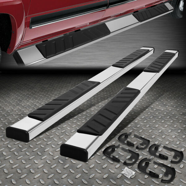 FOR 04 14 FORD F 150 CREW CAB 5quot;OD FLAT BOARD SIDE STEP NERF BAR RUNNING BOARDS