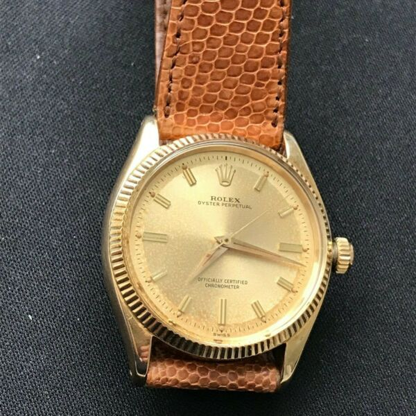 Rare Vintage 14K Rolex Oyster Perpetual ref. 6567 All Original 1030 movement!
