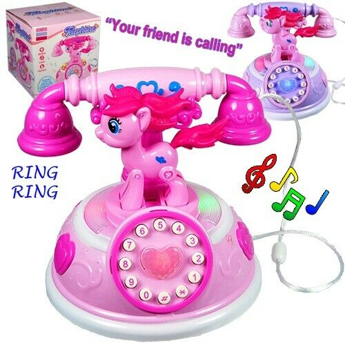 Musical Toys for Girls Age 2 3 4 5 6 7 8 Year Old Kids Phone Pony Children Gift $14.49