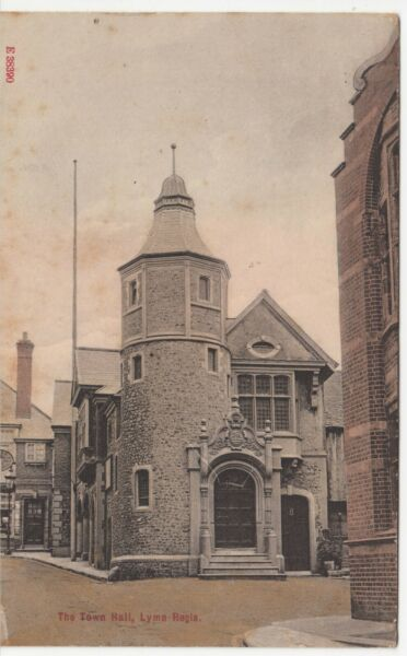 Dorset; The Town Hall Lyme Regis PPC 1919 PMK To Miss K Pike Beauly