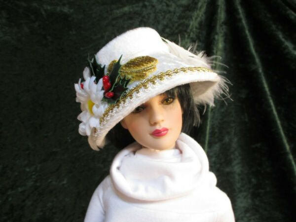 Daises in the Snow a Doll Hat shown on my American Model 22