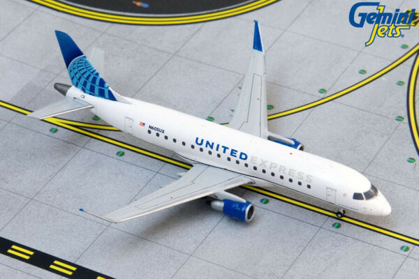 United Express E175 New 2019 Livery N605UX Gemini Jets GJUAL1889 1:400 IN STOCK