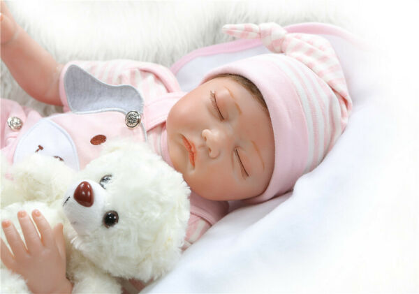 Weighted Baby Dolls Girl Eyes Closed 22