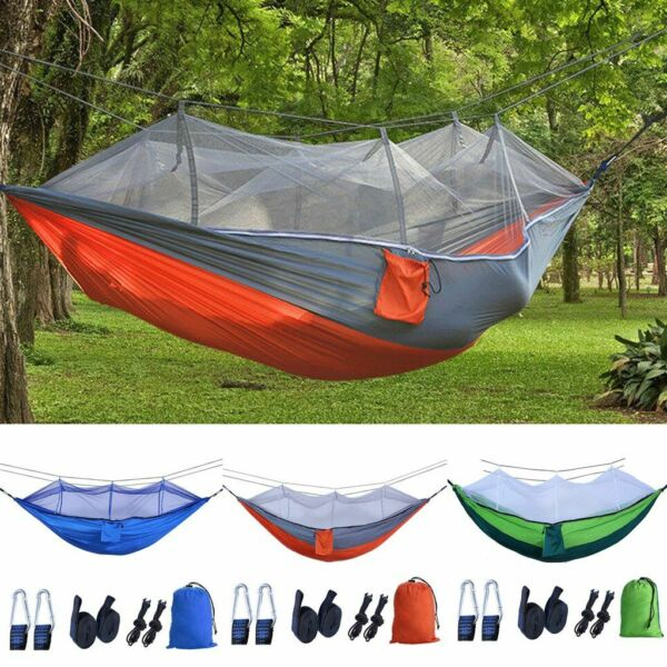 Outdoor Camping Double Person Travel Tent Hanging Hammock Bed With Mosquito Net $23.08
